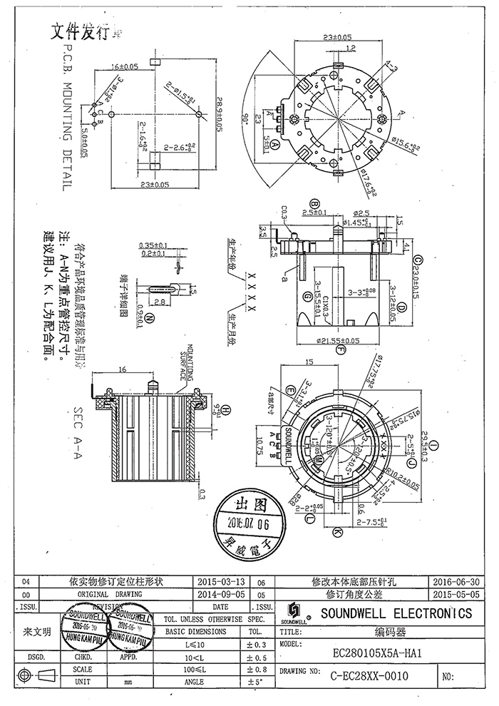 EC28中空编码器规格书